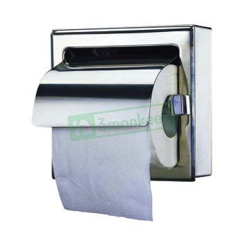 Single Toilet Roll Holder with Hood