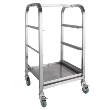 Vogue 3 Tier Glass Racking Trolley for 425mm Baskets (CB511)