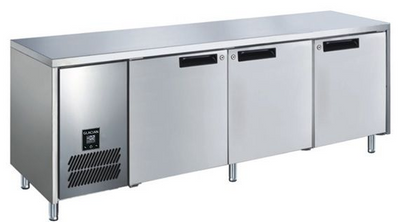 Slimline 660mm Deep 2 Door S/S Under bench Freezer