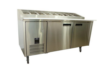 760mm Deep 1 Door S/S Pizza Prep Fridge
