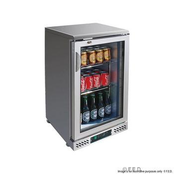Single Door Stainless Steel Bar Cooler with castors (SC148SG)