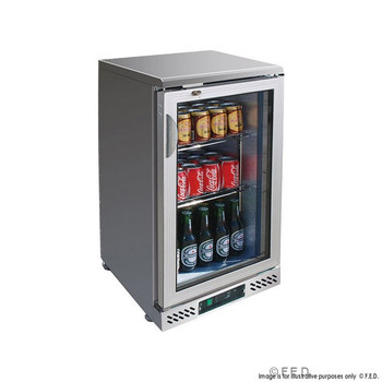 Single Door Stainless Steel Bar Cooler with castors (SC148SG)