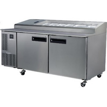 Skope PG500PIZZA Pegasus Horizontal 2/1 Series Two Doors Pizza Prep Fridge - 1750mm
