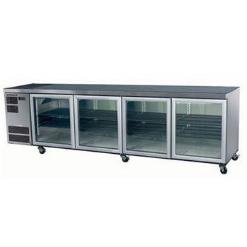 Skope CL800 Counterline Series Four Door Bench Fridge - 2820mm