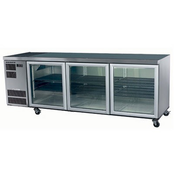 Skope CL600 Counterline Series Three Door Bench Fridge - 2210mm