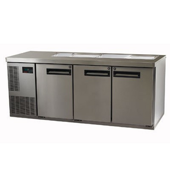 Skope PG400PREP-2 Pegasus Horizontal 1/1 Series Three Doors Prep Fridge - 1799mm (PG400PREP-2)