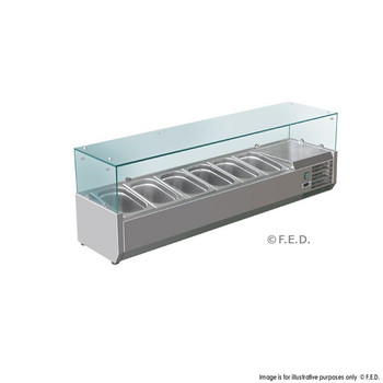 Deluxe Stainless Steel Pizza, Salad, Sandwich Top (6 Pans) (VRX1500/380)