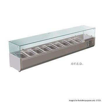 Deluxe Stainless Steel Pizza, Salad, Sandwich Top (9 Pans) (VRX2000/380)