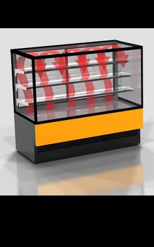 Eurochill Evok Hot 120 Square Glass Display Case