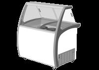 Exquisite SD235S2 Ice Cream Freezers with Glass Canopy
