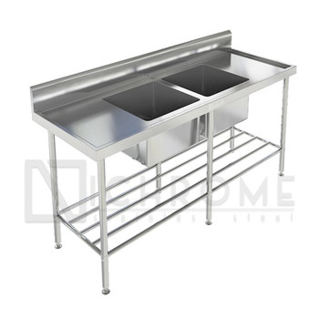 Double Bowl Sink Bench