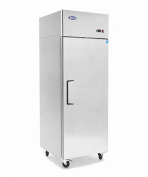 Stainless Steel Upright Top Mounted Single Door Fridge - Compact Unit