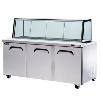 FRESH Megatop FMU-72GC Glass Canopy Salad , Sandwich & Noodle Bar