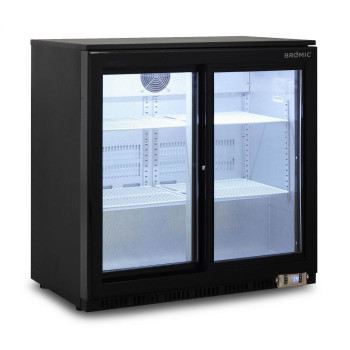 2 Sliding Glass Door Back Bar Fridge