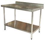 1200mm Bench with Shelf Underneath and Splashback (03-1200L )