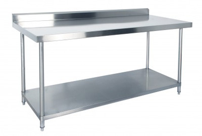 1800mm Bench with Shelf Underneath and Splashback (03-1800L)