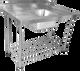 1200mm Single Sink with Splashback and Adjustable Pot Rack (06-1200L )