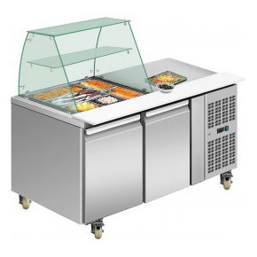 THP Series Two Door Deluxe Stainless Steel Food Services Bars (10 pans)