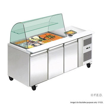 Three Door Deluxe Salad Bar (THP3100SALGC)