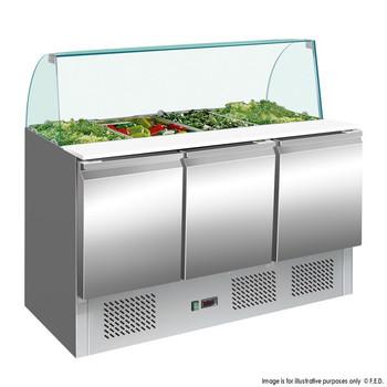 Compact Food Service Bar Three Door (S903GC)