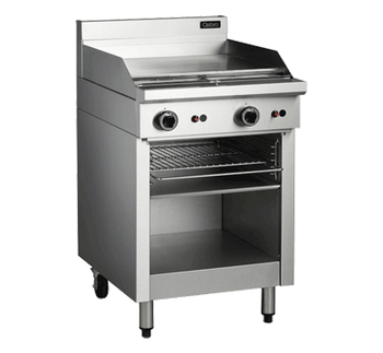 Cobra CT6 Gas 600mm Griddle with Toaster Below on Open Base Cabinet