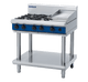 Blue Seal G516C-LS Gas Cooktop 4 Burner with 300mm Griddle on Open Leg Stand Base