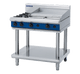 Blue Seal G516B-LS Gas Cooktop 2 Burner with 600mm Griddle on Open Leg Stand Base
