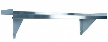 1800mm Solid Wall Shelf with Brackets (08-1800L )