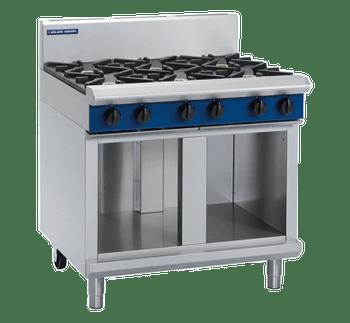 Blue Seal G516D-CB Gas Cooktop 6 Burner 900mm on Open Cabinet Base