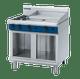 Blue Seal G516B-CB Gas Cooktop 2 Burner with 600mm Griddle on Open Cabinet Base