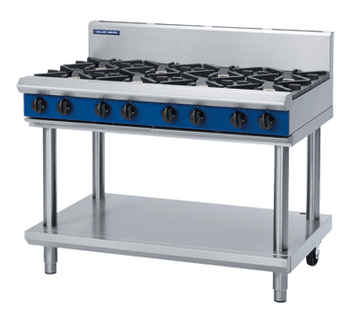 Blue Seal G518D-LS Gas Cooktop 8 Burner On Open Leg Stand Base