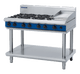 Blue Seal G518C-LS Gas Cooktop 6 Burner with 300mm Griddle On Open Leg Stand Base