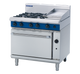 Blue Seal G506C Gas Cooktop 4 Burner with 300mm Griddle on Static Oven Below