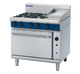 Blue Seal G56C Gas Cooktop 4 Burner with 300mm Griddle on Convection Oven Below