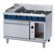 Blue Seal G508C Gas Cooktop 6 Burner with 300mm Griddle on Static Gas Oven Below
