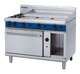 Blue Seal G508A Gas Cooktop 2 Burner with 900mm Griddle on Static Gas Oven Below