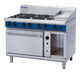 Blue Seal G58C Gas Cooktop 6 Burner with 300mm Griddle on Convection Oven Below