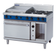 Blue Seal G58B Gas Cooktop 4 Burner with 600mm Griddle on Convection Oven Below