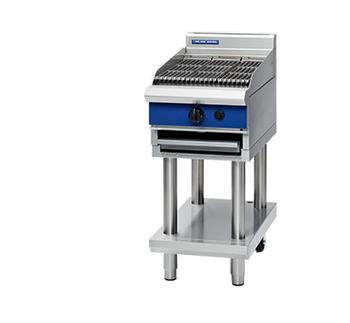 Blue Seal G593-LS 450mm Gas Chargrill on Open Leg Stand Base