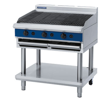 Blue Seal G596-LS 900mm Gas Chargrill on Open Leg Stand Base