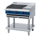 Blue Seal G596-LS 900mm Gas Chargrill with 300mm simmerplate on Open Leg Stand Base