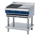 Blue Seal G596-LS 900mm Gas Chargrill with 600mm simmerplate on Open Leg Stand Base