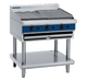 Blue Seal G596-LS 900mm Gas Chargrill with different grates angle on Bench Top Model