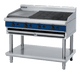 Blue Seal G598-LS 1200mm Gas Chargrill with 450mm Simmer Plate on Open Leg Stand Model