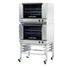 Turbofan E27M3/2 Full Size Tray Manual Electric Convection Ovens Double Stacked