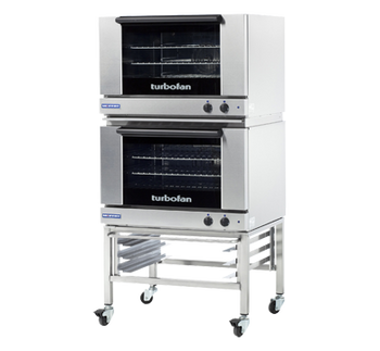 Turbofan E27M2/2 Full Size Tray Manual Electric Convection Ovens Double Stacked