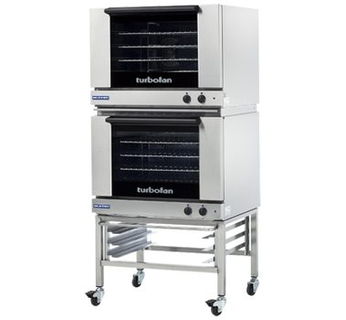 Turbofan E28M4/2 Full Size Tray Manual Electric Convection Ovens Double Stacked