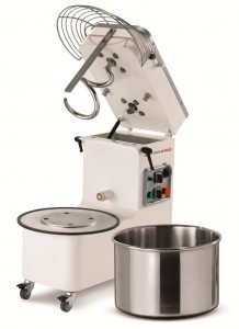 50 Litre Spiral Mixer - Tilting Head & Removable Bowl