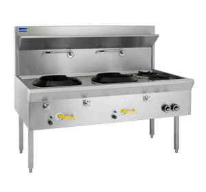 2 Hole Waterless Wok with 2 Open Burners