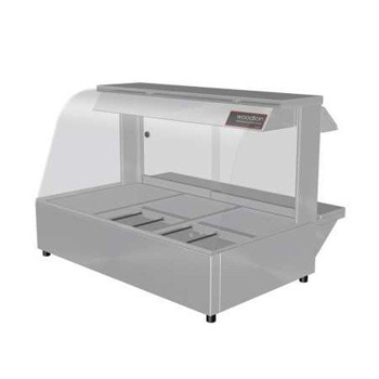 Woodson 3 Module Curved Hot Food Display